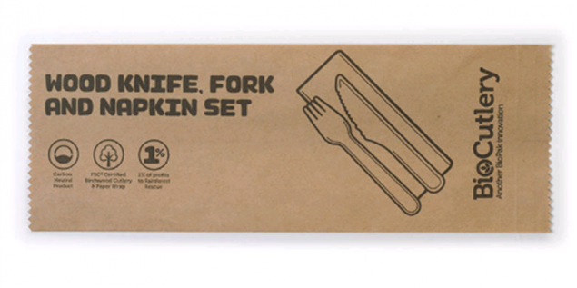 Individual Biodegradable Cutlery Pack